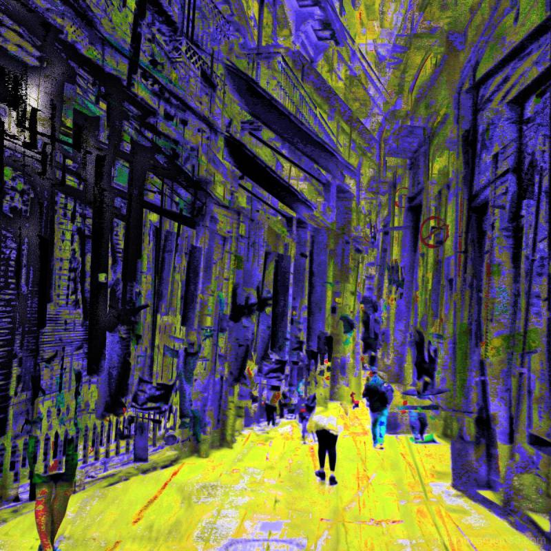 Barcelona digital street photography + The GIMP!