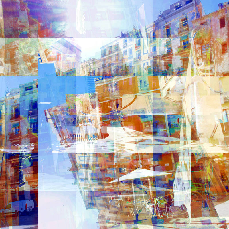 Barcelona digital street photography, GIMP edit.