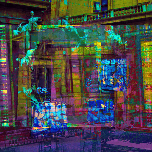 Barcelona, digital, street photography, GIMP edit.