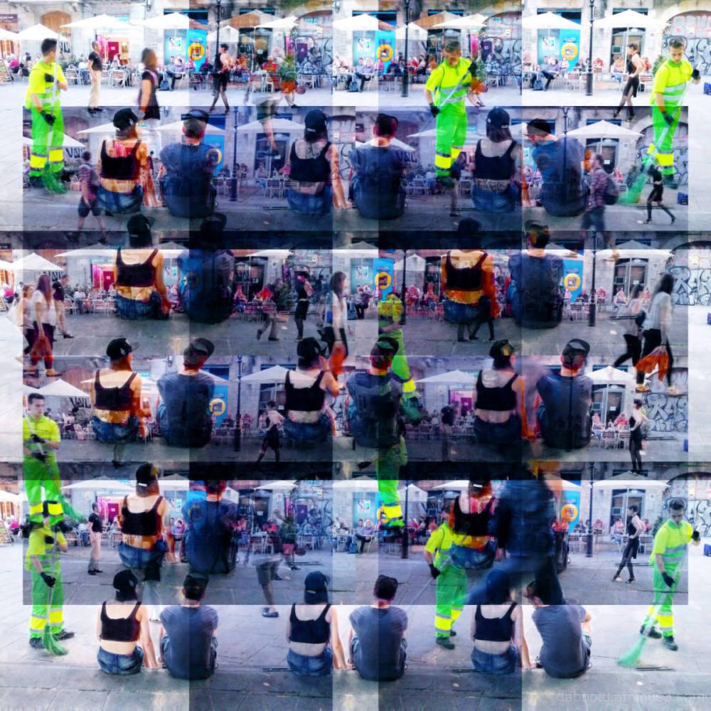 Barcelona digital street smartphone photo + GIMP !