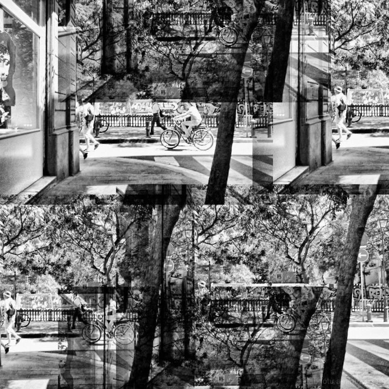 Digital faux b/w street smartphone image + GIMP!