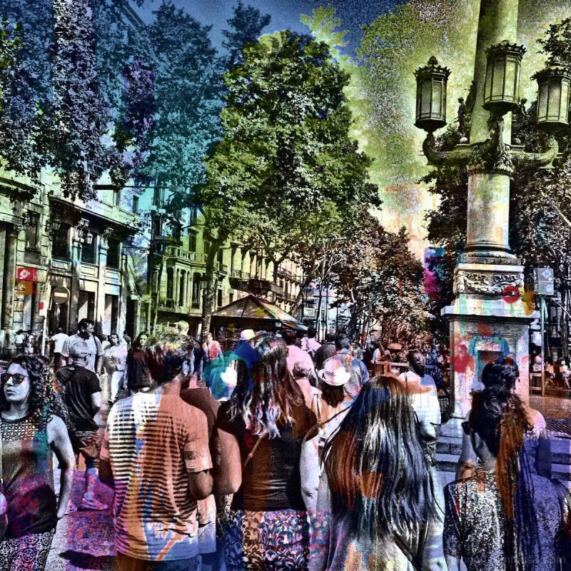 Barcelona digital street smartphone image + GIMP.
