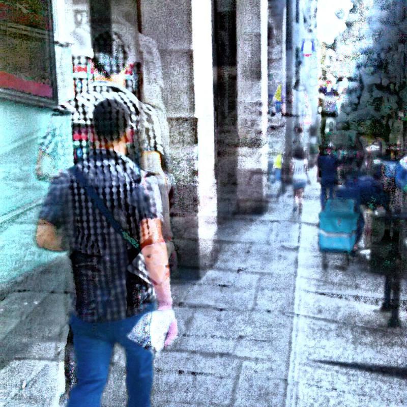 Barcelona digital smartphone street photo + GIMP!