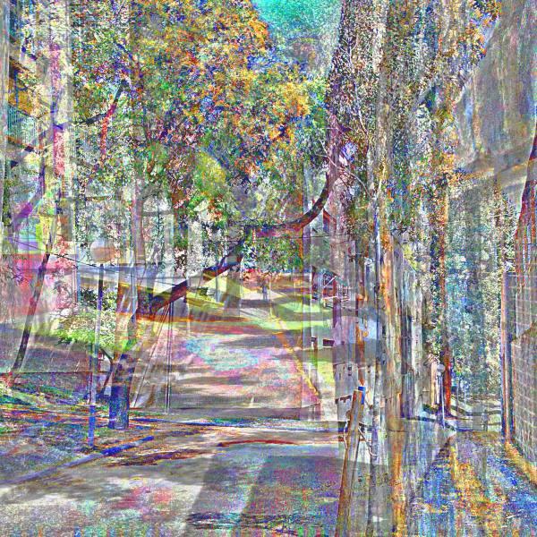 Barcelona digital street smartphone picture +GIMP!