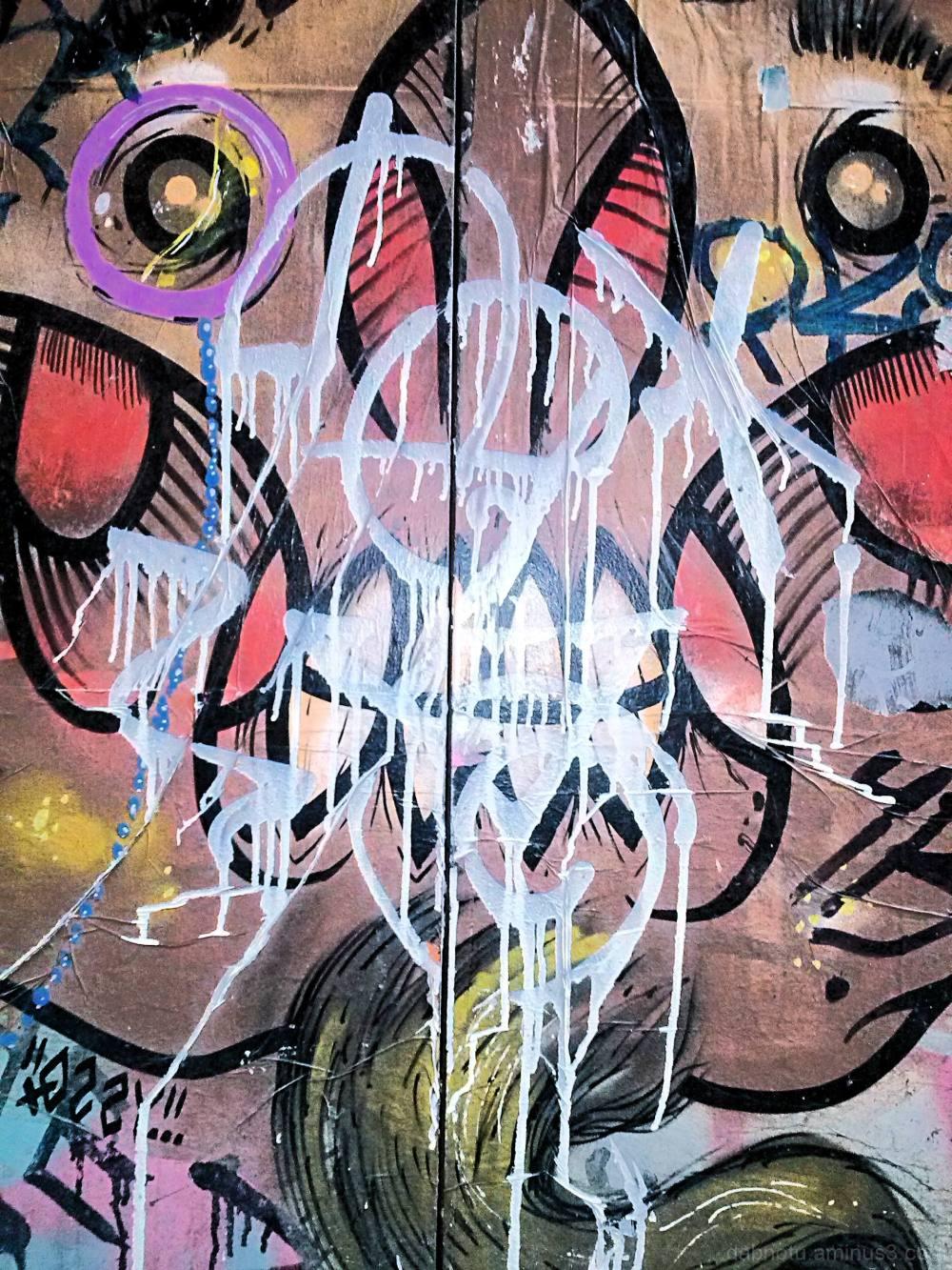 Barcelona urban exploration graffiti, smartphone.