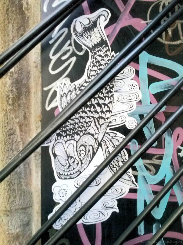 Barcelona urban exploration smartphone image+GIMP!