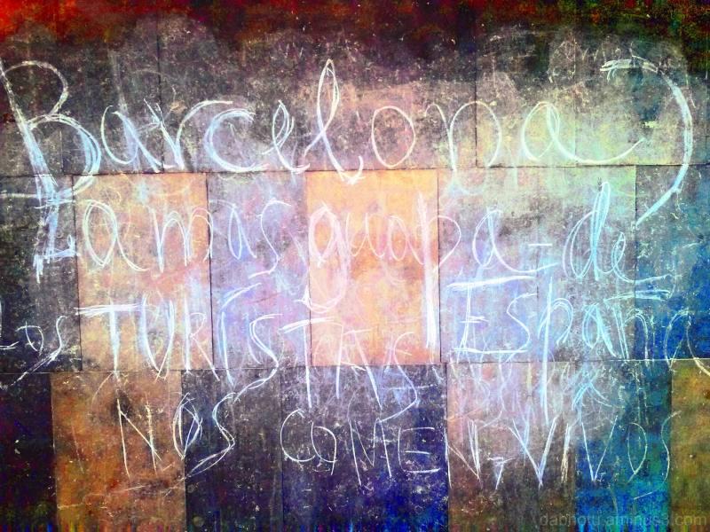 Barcelona smartphone graffiti image + The GIMP!