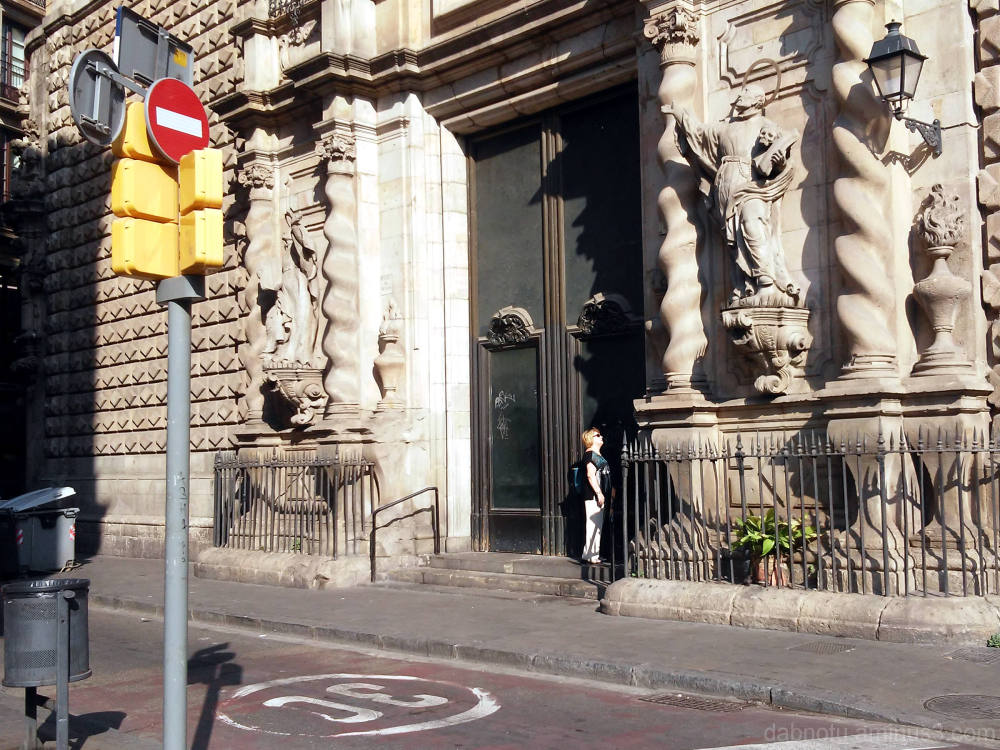 Barcelona smartphone street photography GIMP edit.