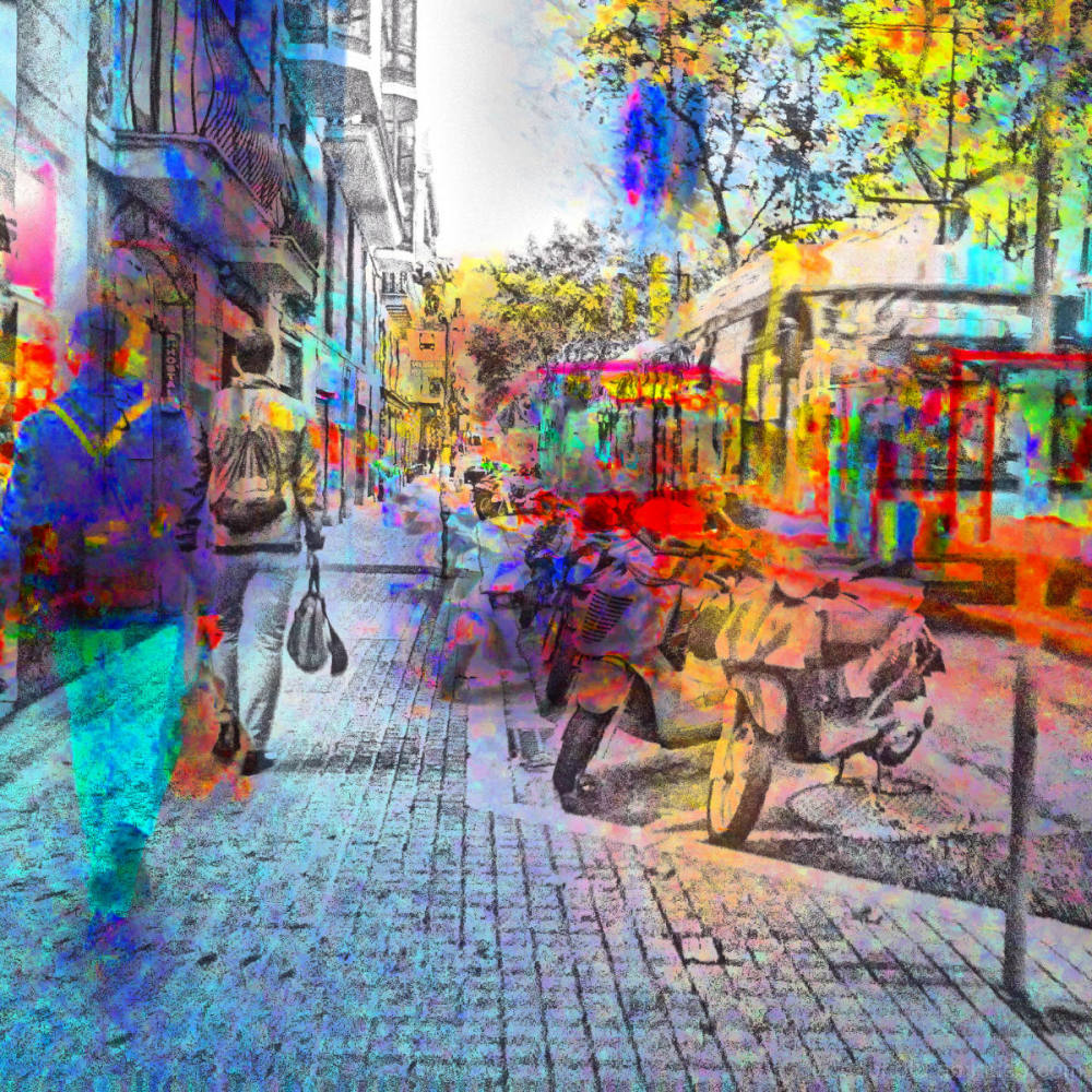 Barcelona smartphone street photography+The GIMP!