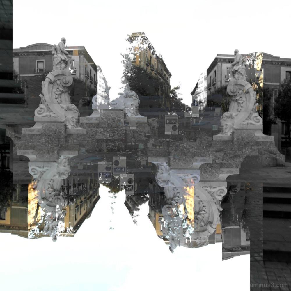 Barcelona street photography/photomanipulation.