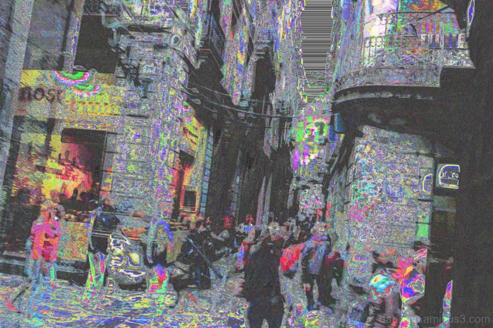 VOX ADPCM databent street double exposure!