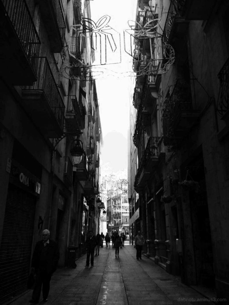 Barcelona black and white street photography.