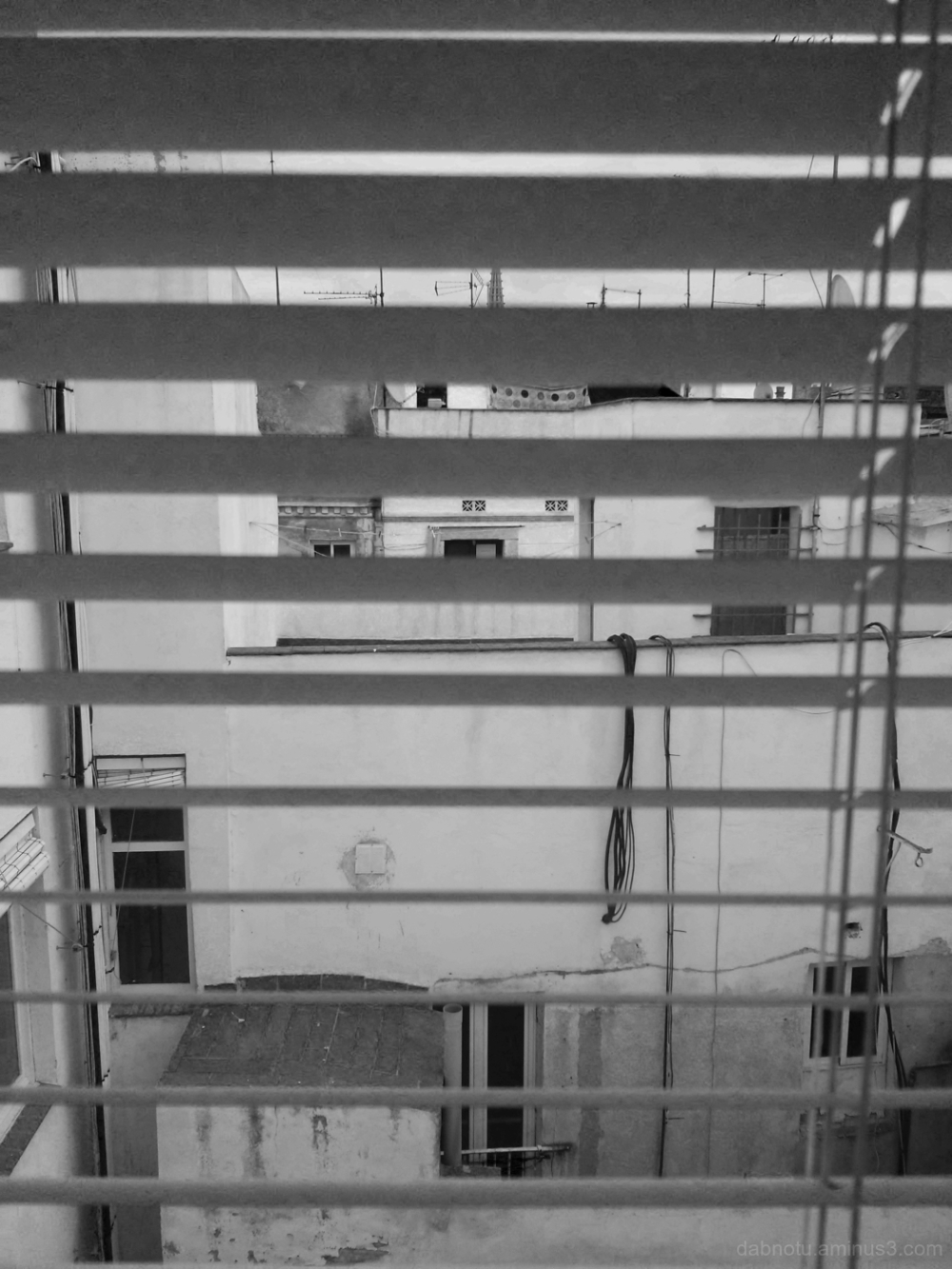 Black and white interior/exterior photography