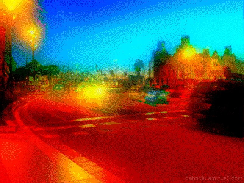 Barcelona 8-bit smartphone street photography.