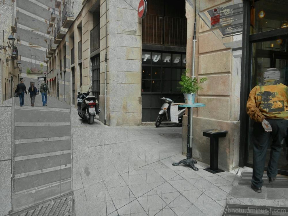 Double exposure smartphone street photography.