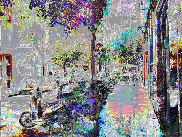 Barcelona databending/glitch urban photography.