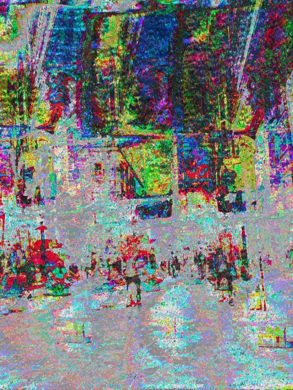 Barcelona databending/glitch urban photography.