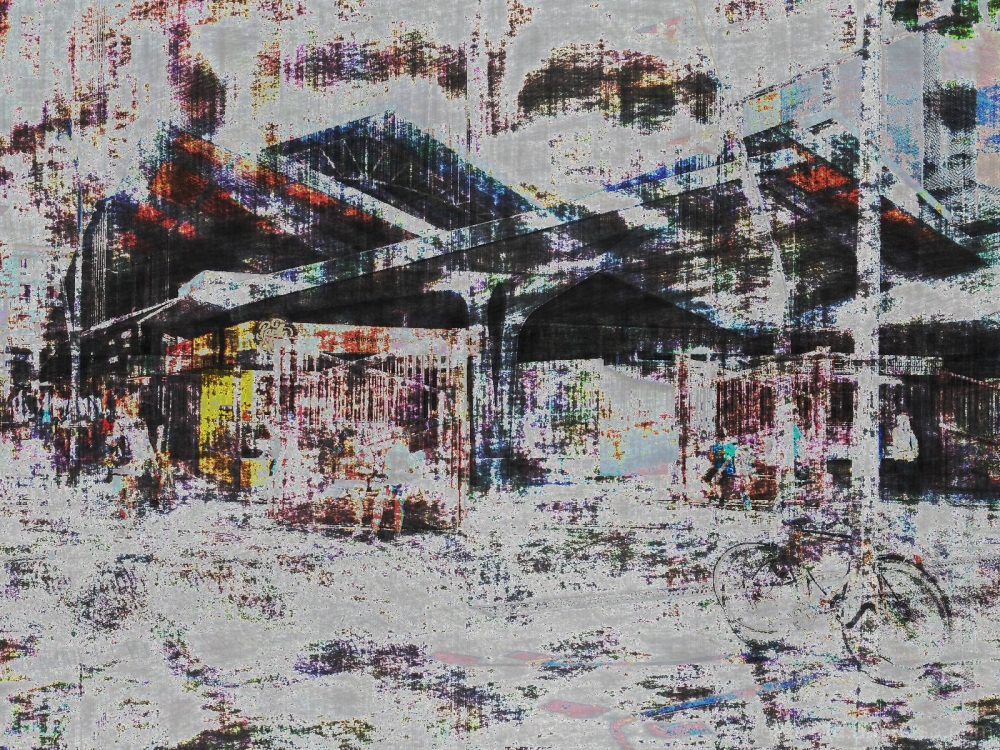 Barcelona databending/glitch street photography.