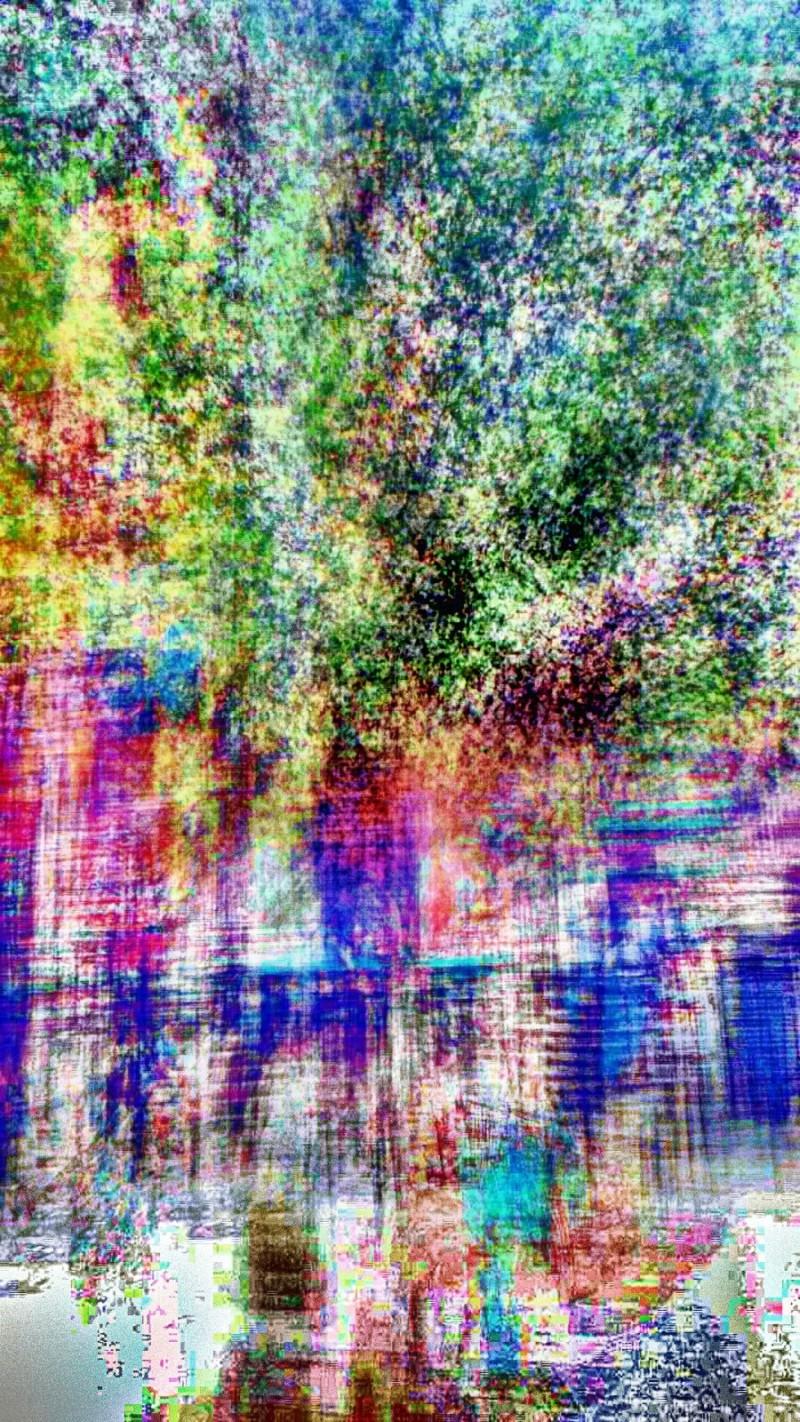 Long exposure photomanipulation experiment.