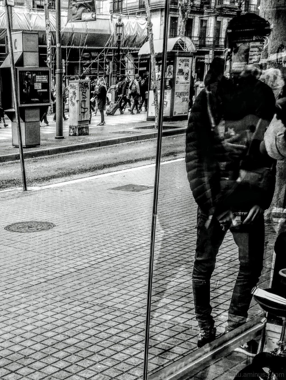 Black and white/grayscale/monochrome street photo!