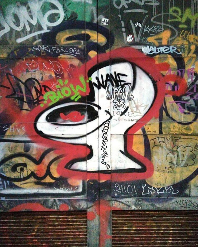 Barcelona urban street art graffiti pasteup, etc.