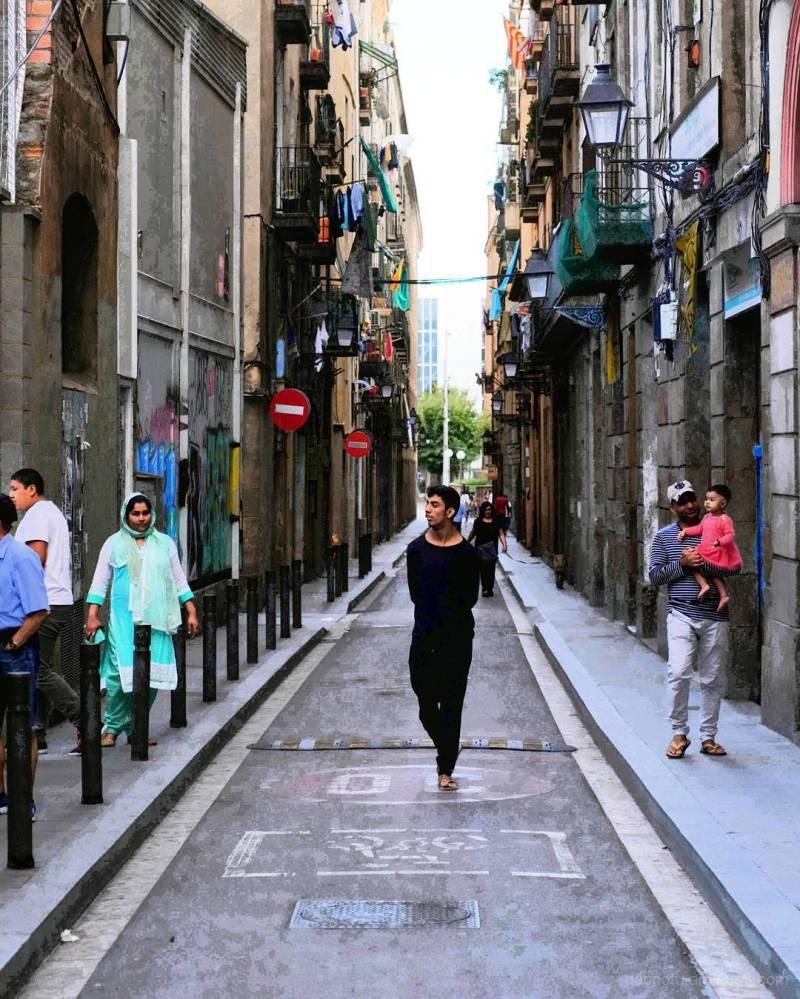Barcelona edited street photography.