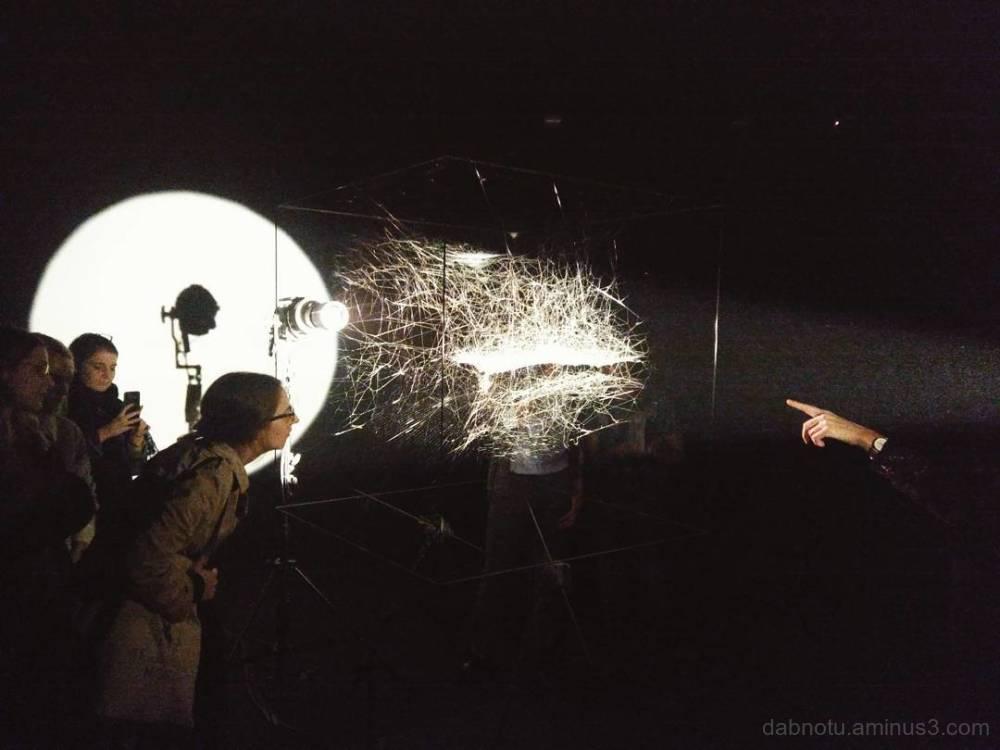 14è Biennale de Lyon exhibit avec spider.