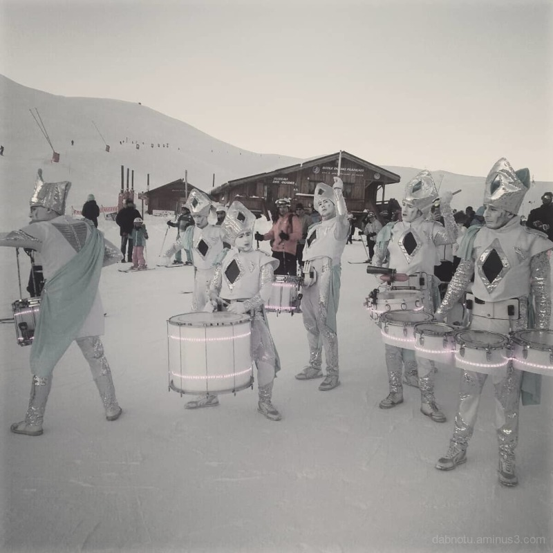 #AlpeDHuez #France #Europe #snow #drummers #trip