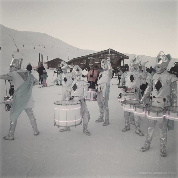 #AlpeDHuez #France #Europe #snow #drummers #trip