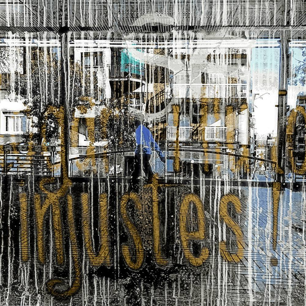 Barcelona urban street photography double exposure