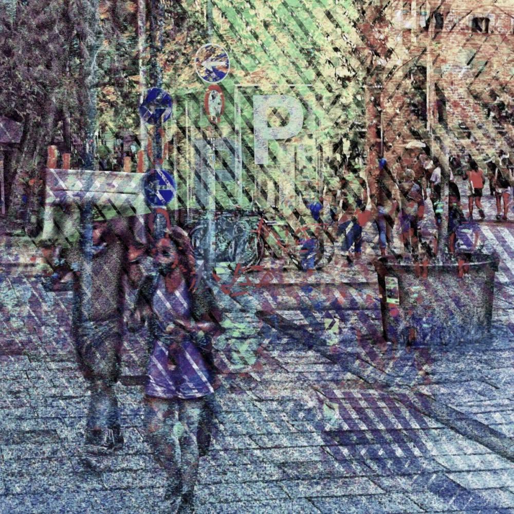 A street scene in Barcelona, Catalunya, Spain.