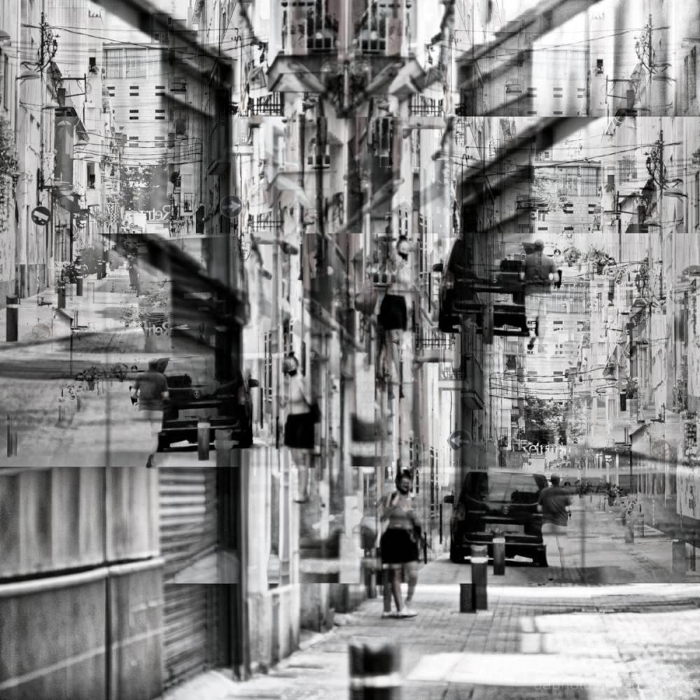 A street scene in Badalona, Catalunya, España.