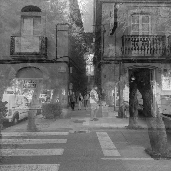 A street scene in Muros, Galicia, España.