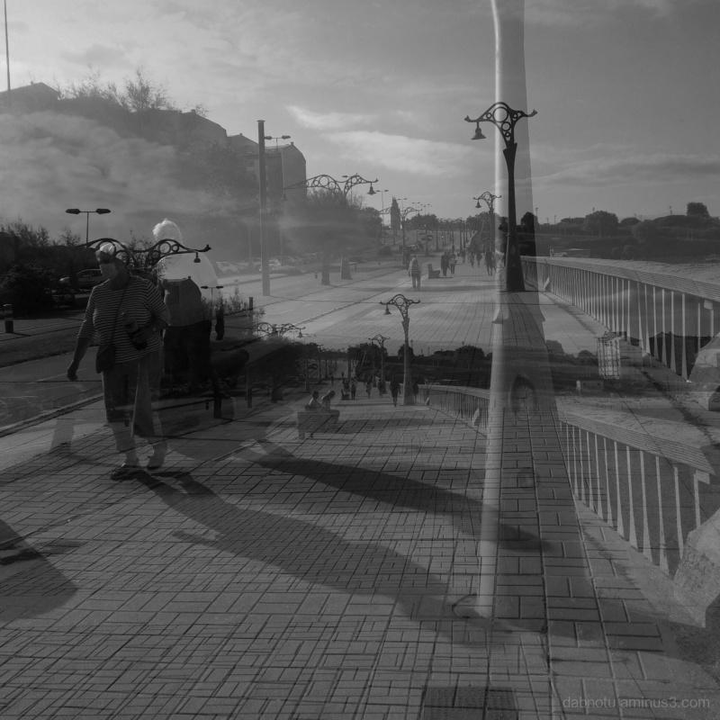 A street scene in A Coruña, Galicia, Spain.