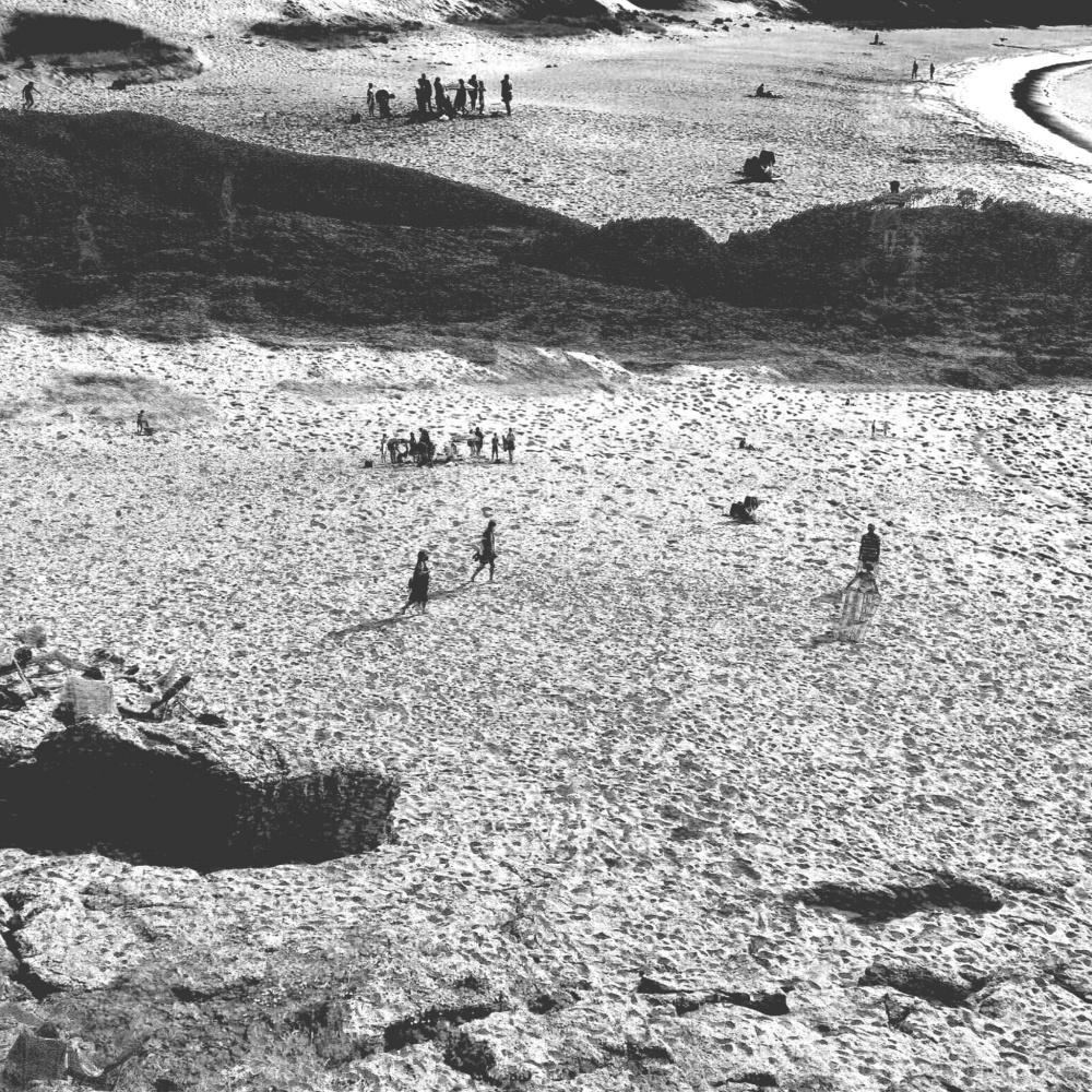 A scene in Praia de Lourido, Galicia, Spain.