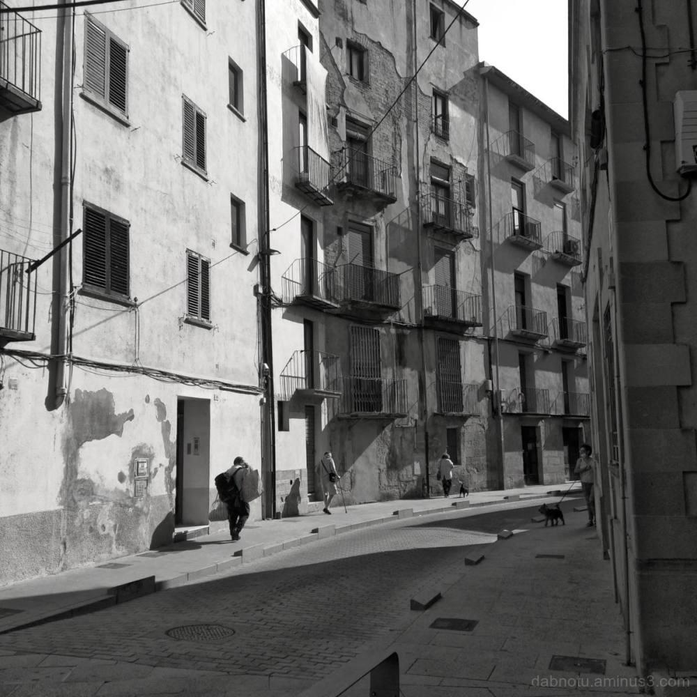 A street scene in Tortosa, Catalunya, España.
