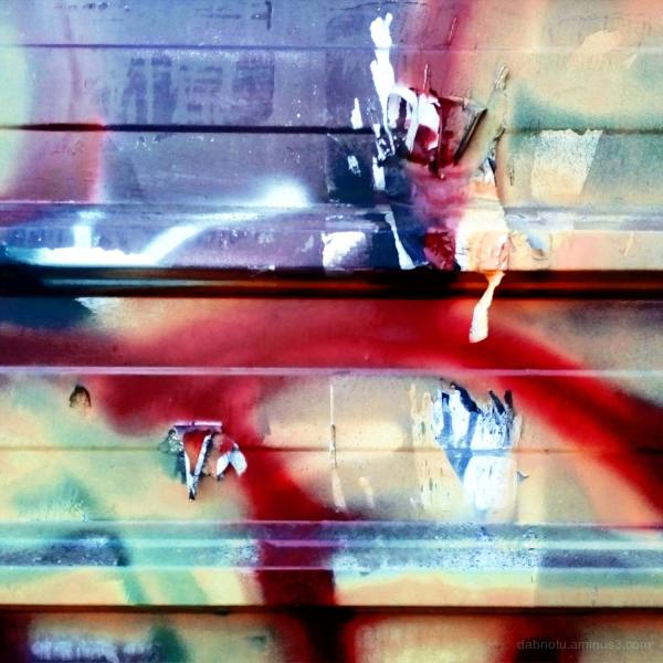 Abstract graffiti detail in Barcelona, España, EU.