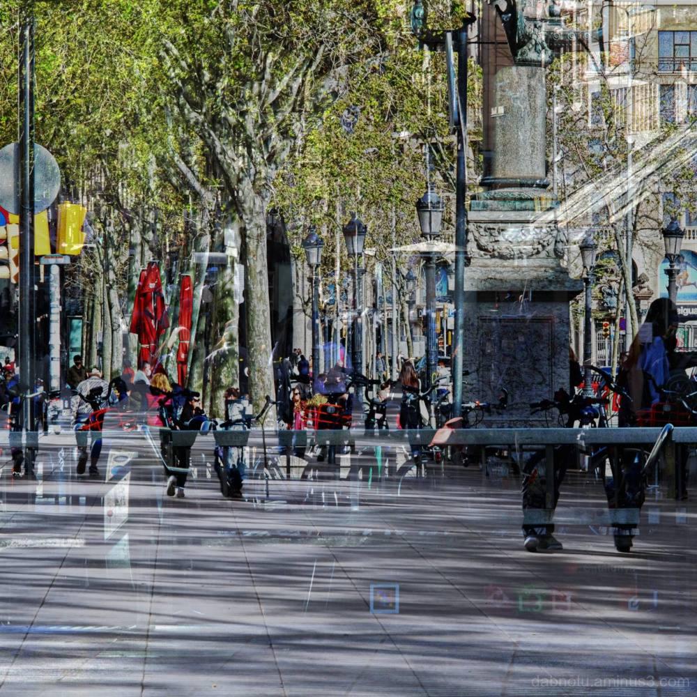 A street scene in Barcelona Catalunya España EU!