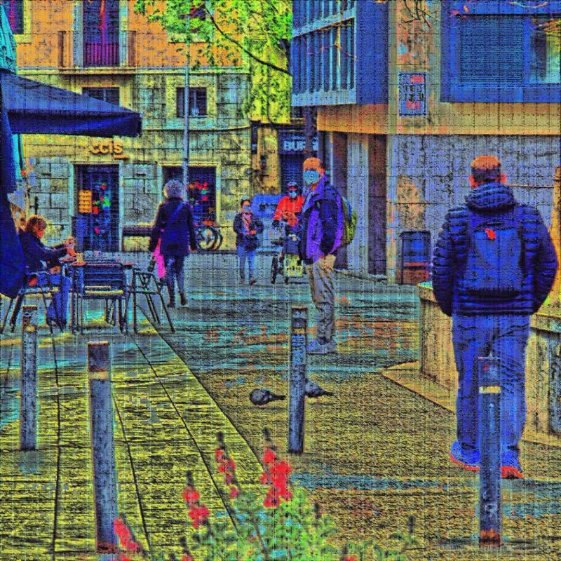 Street scene in Barcelona, Catalunya, España, EU.