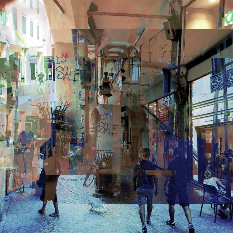Street scene in Padova, Veneto, Italia, EU.