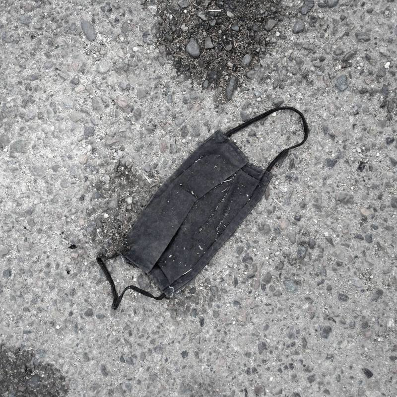 Image of discarded mask somewhere in southern EU.