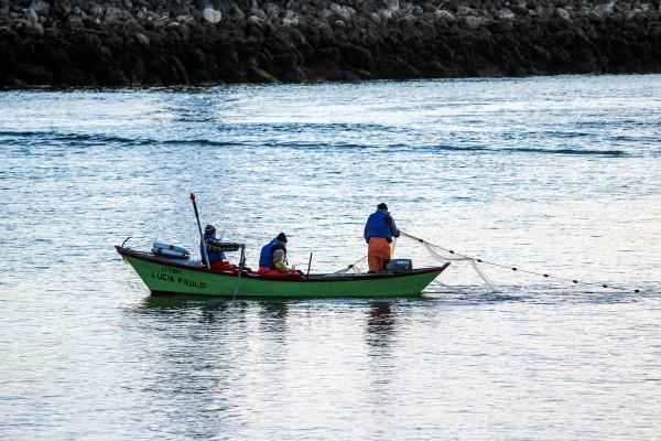 À pesca no rio