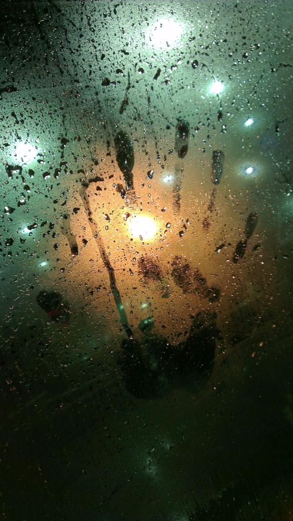 Rain and a human