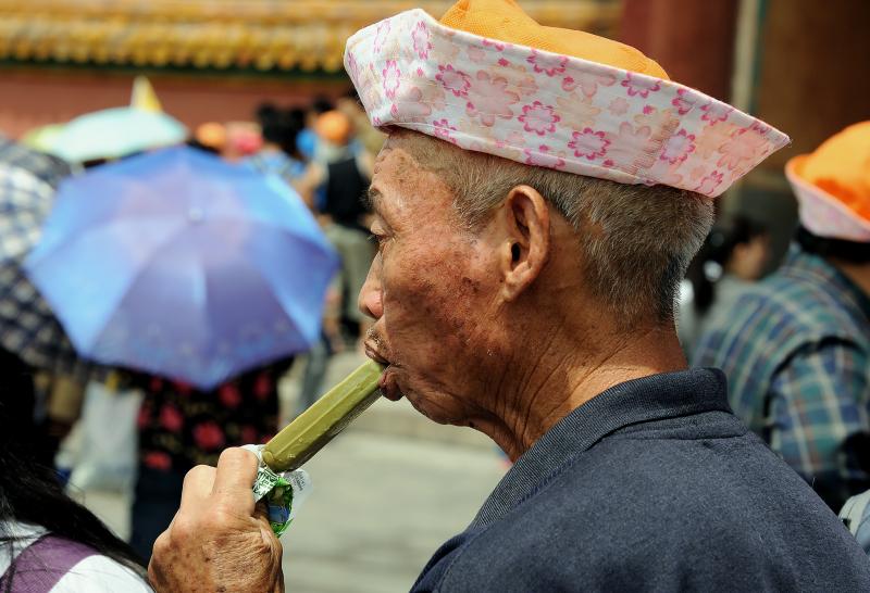 Hot weather in Beijing