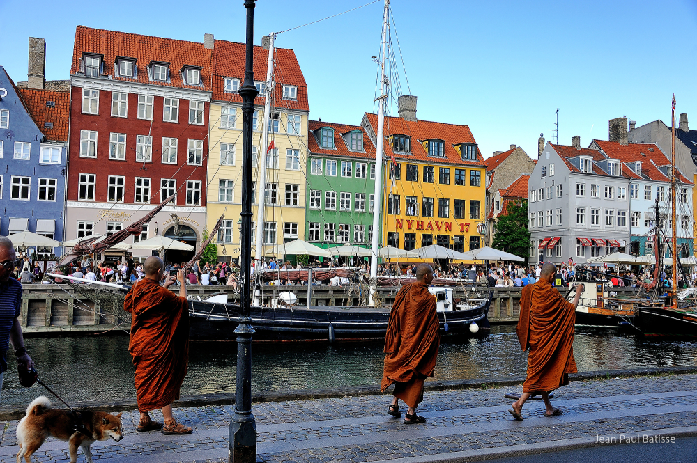 3 monks in Copenhagen