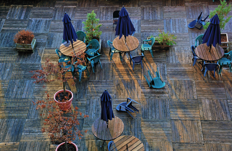 Roof terrace in Quebec city