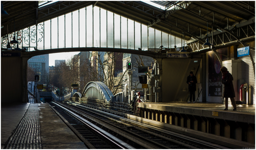 Nationale station in spring