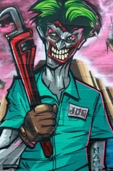 Street art JOKER