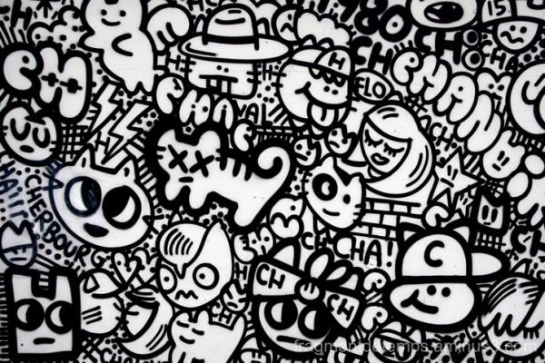 Le mur Cherbourg, CHANOIR street artiste