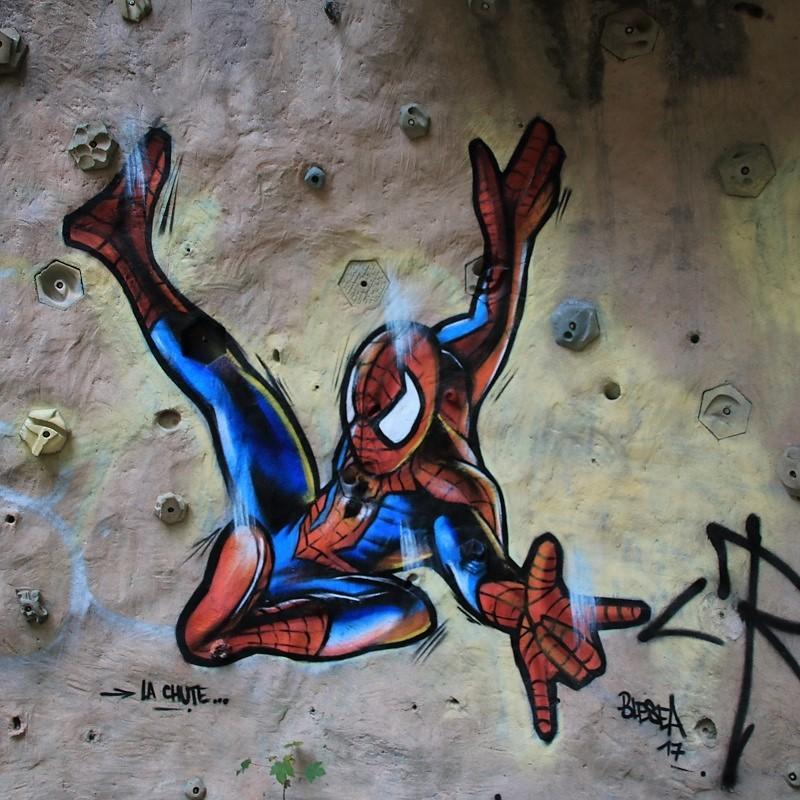 Spiderman l'oeuvre de l'artiste Blesea